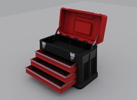 3d model plastic toolbox
