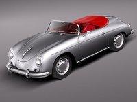 3d model porsche 356a 356 sport
