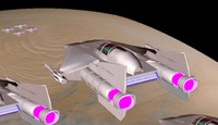 3d a-wing fighter