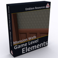 Game Level Elements - Mansion Walls