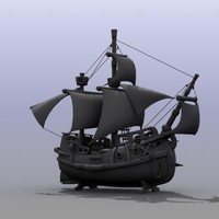 max high-poly toy ship
