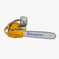 3d husqvarna chainsaw model