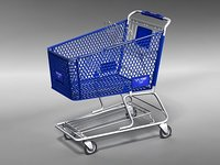 3d model shopping cart kart walmart