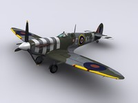 supermarine spitfire fighter mkvb 3ds