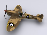 supermarine spitfire fighter 4th 3d model