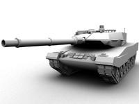 tank leopard2 3d model