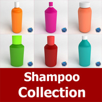 bottles shampoo 3d 3ds