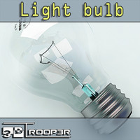 3d photorealistic light bulb model