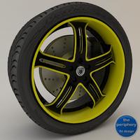 3d model asanti af167 black yellow