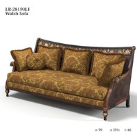 CENTURY walsh sofa lr-28190lf leather fabric combination classic tradirional luxury