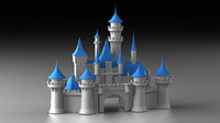 Disney Cinderella Castle + Logo and Animated