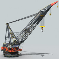 3d model mono crane vessel