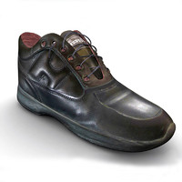 3d model shoe leather