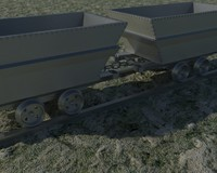 3d old wagon