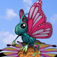 rigged butterfly 3d model
