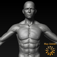 3d model jacob male heroic character anatomy