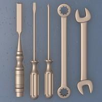 3d basic tool chisel