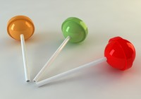 3d lollipop model