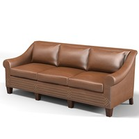 3d model sofa leather traditional