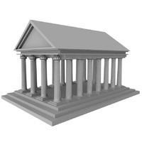 greek temple 3d model