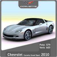 2010 chevrolet corvette grand 3d model