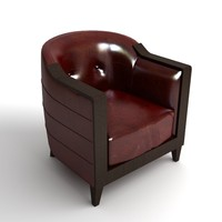 chair armchair leather 3d max