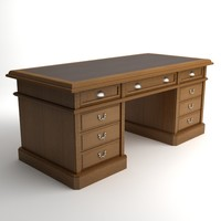 3ds max desk wooden photorealistic