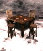 table chair stool 3d fbx