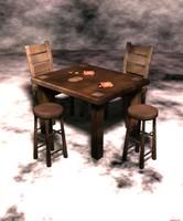 table chair stool 3d fbx