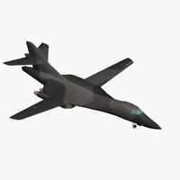 3d model rockwell lancer b-1