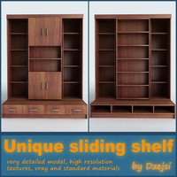 3d model unique sliding shelf