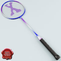 3d model of badminton racket v2
