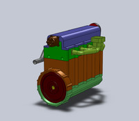 3ds internal combustion engine solidworks