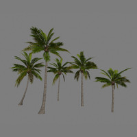 low-poly palm trees package