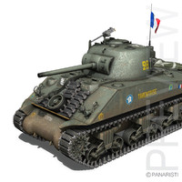 M4A2 Sherman - Free french forces