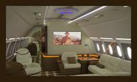 3D business aircraft seat