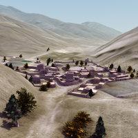 afghan village 3d fbx