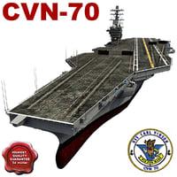 carl vinson cvn-70 3d model