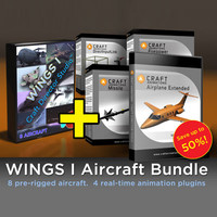 8 aircraft craft plugins 3ds