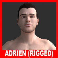realistic man adrien rigged 3d model