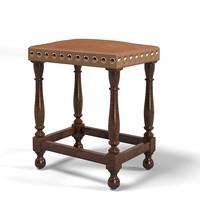 bench seat ottoman obj