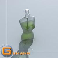 3D perfume bottle