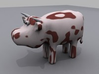 3ds max cow animals