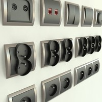 Electrical wall switches & sockets set (Simon Classic)