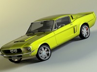 3d 1967 mustang shelby gt500