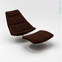 geoffrey harcourt f584 chair 3d max