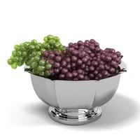 3ds max garapes bowl fruits