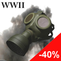 war gas mask 3d 3ds