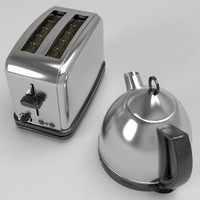 3d kettle toaster