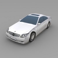 3d model mercedes cl600 car